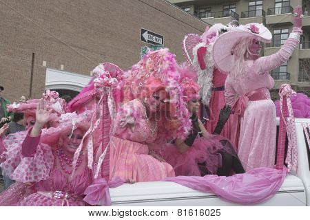 Whimsical Pink Fun At Mardi Gras