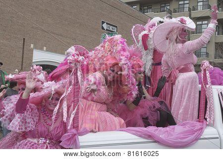 Whimsical Pink Fun At Mardi Gras
