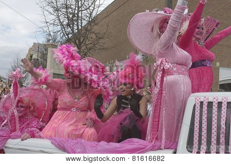 Frilly Pink For Mardi Gras