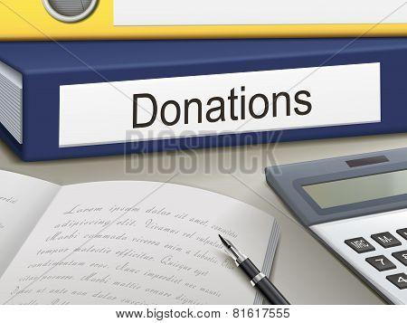 Donations Binders