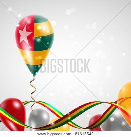 Flag of Togo on balloon