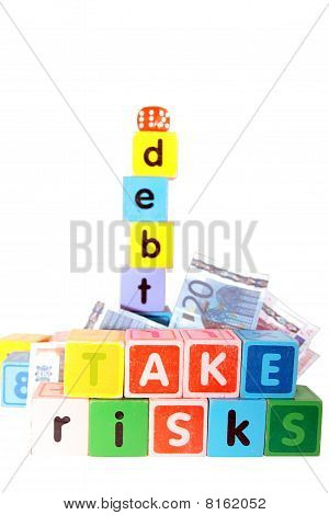 Take Risks With Debt In Childs Letter Play Blocks
