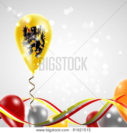 Flag of Flanders on balloon