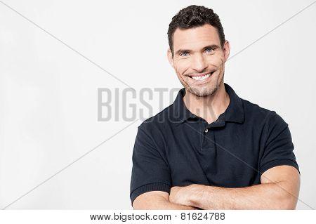 Casual Man Posing To Camera