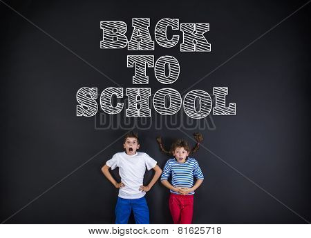 Two schoolkids