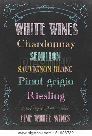 White Wines  Menu