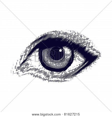 Human Etched Eye