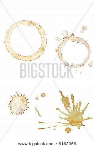 Coffee Splatters And Cup Rings