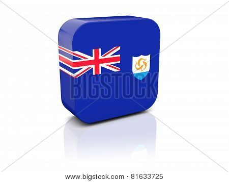 Square Icon With Flag Of Anguilla