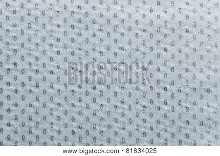 Pale Silvery Fabric With Spots Ovals