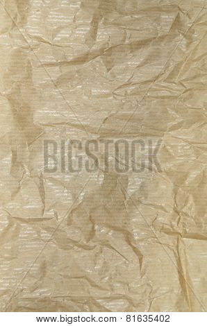 Creased Greaseproof Paper, Detail, vertical