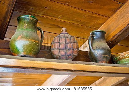 Two Jugs And Copper Canteen