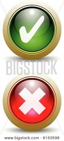 Pair Of Check Mark Buttons