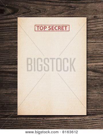 Top Secret Document.