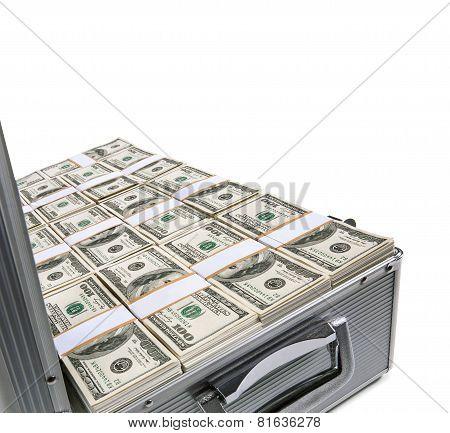 Open case full of money