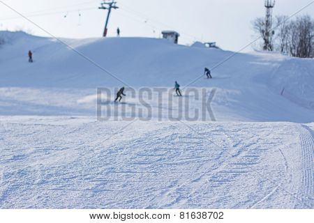 Ski Holiday In Winter. Skiing And Snowboarding