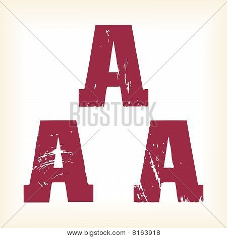 Grunge vector A letter