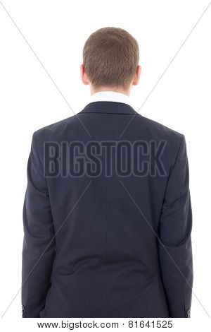Back View Of Business Man Isolated On White