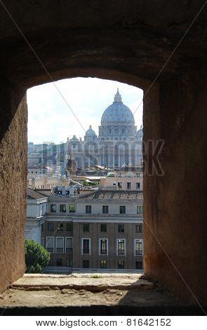 Beautiful Panorama Of San Pietro Castle, Italy