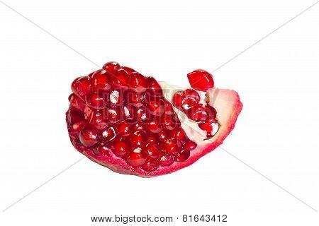 slice of pomegranate