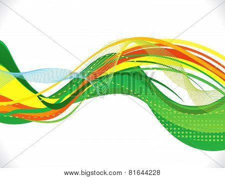 Abstract Artistic Green Wave Background