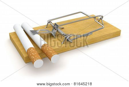 Mousetrap and Cigarettes (clipping path included)