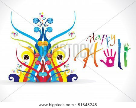 Abstract Artistic Colorful Holi