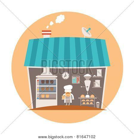 Bakery Or Bakeshop Vector Concept