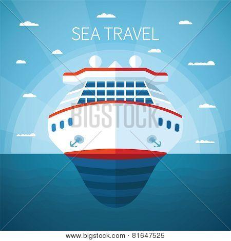 Sea Cruise Vector Concept