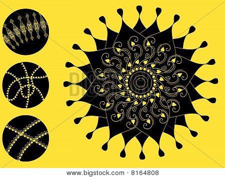 Detailed Henna art Inspired Mandala