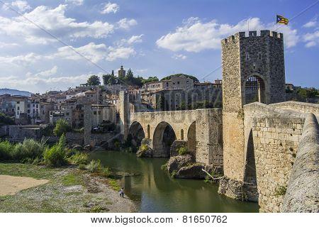 Fortified Stone Bridge, Besalú, Spain