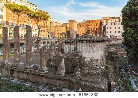 Ruins At The Square Largo Di Torre Argentina,