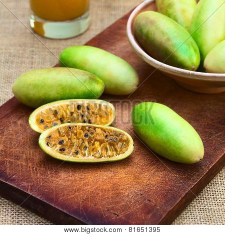 Banana Passionfruit (lat. Passiflora Tripartita)