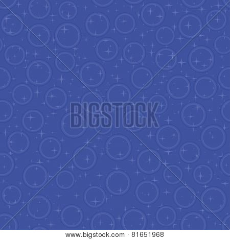 Blue seamless pattern with bubbles