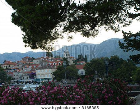 Ansicht von Cavtat am Morgen