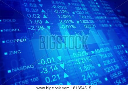 Stock exchange chart