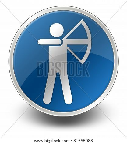 Icon, Button, Pictogram Archery