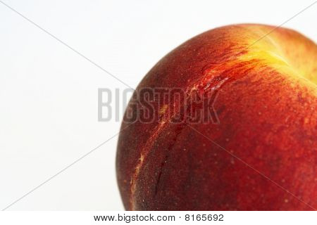 Fresh Peach With Leaking Water Drop
