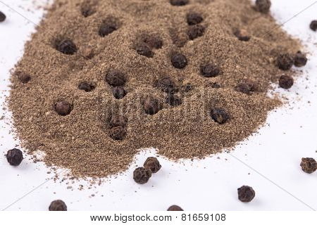 Pile of ground pepper