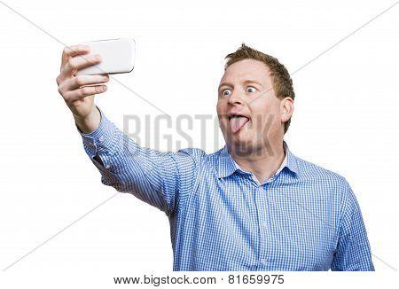 Man taking selfie of himself