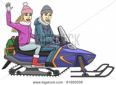 Snowmobile.