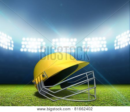 Cricket Stadium And Helmet