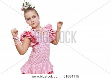 girl with costume dancer