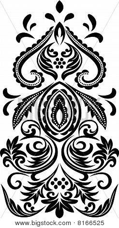 classic scroll floral emblem