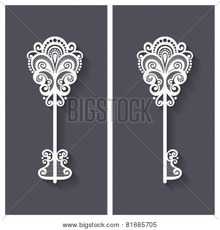 Vector Ornate Antique Key