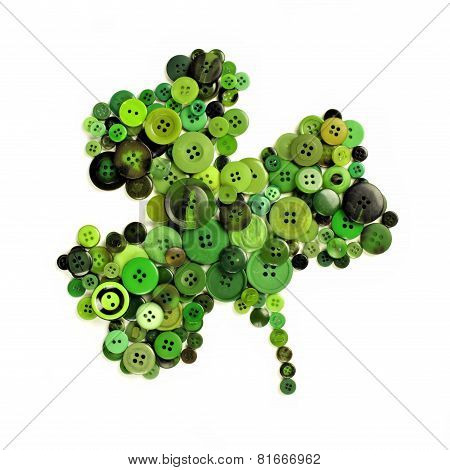St Patricks Day button shamrock