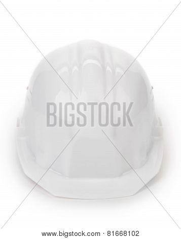 White safety helmet.