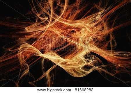 Abstract Orange Fractal Texture