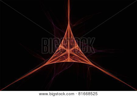 Abstract Triangular Fractal Texture.
