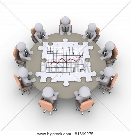 Businessmen Communicate About Graphic Chart